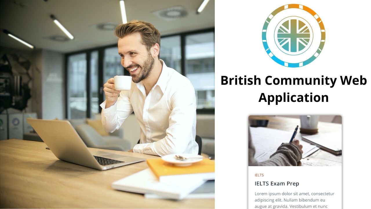 British Community Website Application and design