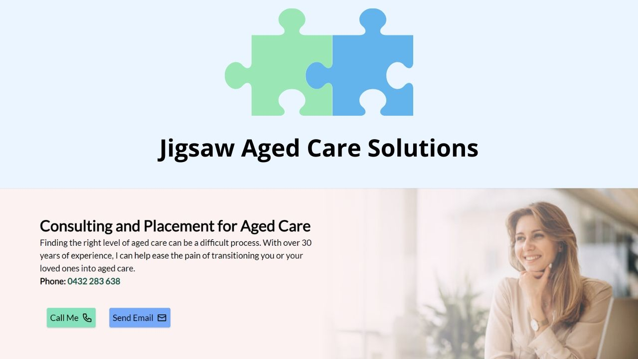 Jigsaw Aged Care Solutions Website